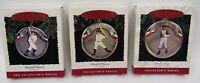 Set of 3 Hallmark Keepsake Christmas Ornaments Baseball Heroes Ruth Gehrig Paige