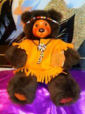 Robert Raikes Original Cookie Bear #660330 Carved Wood Face & Feet 12 inches.