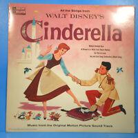 WALT DISNEY'S CINDERELLA SOUNDTRACK LP 1959 RE '63 NICE CONDITION! VG/VG+!!B