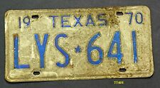 TEXAS 1970 antique license plate 641