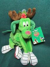 "New ListingVintage 1998 Warner Bros. Studio Store ""K-9 Reindeer"" Bean Bag Plush W/Tag"