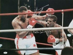 Larry Holmes & Michael Spinks signed 16x20 photo JSA coa