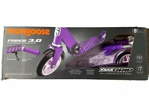Mongoose Force 3.0 Folding Scooter Max Grip  Heavy Duty  -  Purple