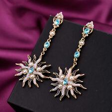 Boucles d`Oreilles Clous Mini Perle Soleil Feu Bleu Vintage Baroque Class XX 8