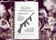 THOMPSON Tommy Gun 1927 1928 &  M1 models OWNERS MANUAL