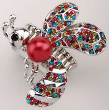 Bee Stretch Ring Cute Animal Bling Sacrf Jewelry Gift Dropship multi-color 5