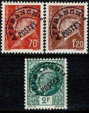 FRANCE 1941 Type PÉTAIN PREO YT n° 84 à 86 Neufs ★★ luxe / MNH