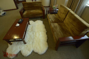 NEW Sexto Pelt LARGE Sheepskin Rug Ivory White 5X6 Soft Lambskin Under Table Rug