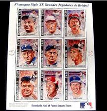 Stamp Set BASEBALL ROBERTO CLEMENTE Schmidt Gehrig Wagner Ruth Wagner Cobb Bench