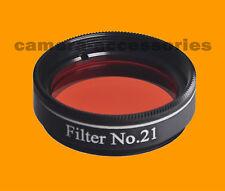 "Planetary Moon 1.25"" Telescope Eyepiece Filter No 21 Orange Double Threaded"