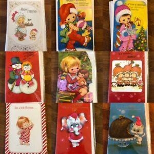 Original Vintage Unused Christmas Cards 1970's 1980's Kitsch & Cute - Retro!