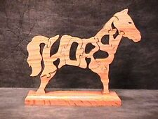 Horse Free Standing Wood Puzzle Woodimal