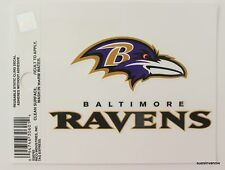 New Window Static Cling Baltimore Ravens NFL Football Licensed Fan League Car