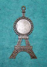 Pendant Eiffel Tower Charm Cabochon Setting Bezel Paris France Charm England Oi!