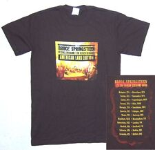 Bruce Springsteen Seeger Seesions Europe Uk Tour Brown T-Shirt Small New