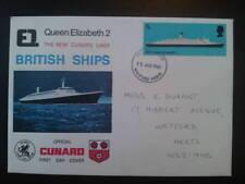Q E 2 BRITISH SHIPS CUNARD FDC 15 JAN 1969 WATFORD