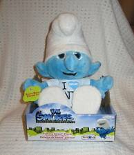 """Jakks Pacific The Smurfs Exclusive Talking Smurf Plush (Clumsy) I Smurf NY  9"""" N"""