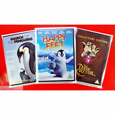 DVD Display Post and Store. New Clear Wraps Protective Covers Size1 Sleeve x 10