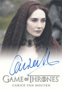 2015 Game of Thrones Season 4 Carice van Houten as Melisandre Auto Card