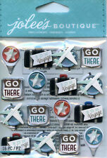 "Jolee's Boutique ""TRAVEL LETTERPRESS"" Dimensional Scrapbooking Sticker - AA74"