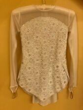 Beautiful & Shinning White Skating Dress (White Lace and Stones)