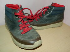 Clarks grey/brown/navy leather/textile high top lace up shoes uk 2 G eur 34