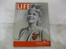 Life Magazine April 28th 1941 Red Is Right Published By Time           mg123