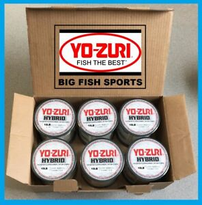 6 PACK YO-ZURI HYBRID Fluorocarbon Fishing Line 10lb/600yd CLEAR COLOR NEW!