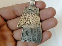 Rare Extremely Ancient Amulet Viking Silver Color Artifact Stunning Authentic