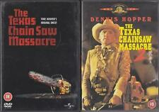 THE TEXAS CHAINSAW MASSACRE 1 & 2 [One,Two] Tobe Hooper Cult Horror DVD *EXC*