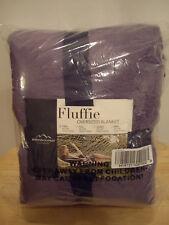 BERKSHIRE BLANKET TWIN SIZE FLUFFIE OVERSIZED BLANKET~64 X 90~DUSTY PURPLE~NWT