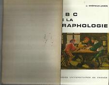 GRAFOLOGIA _J. CREPIEUX - JAMIN : ABC DE LA GRAPHOLOGIE_PRESSE UNIVERSITAIRES