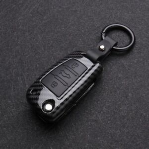 Carbon Fibre ABS Car Key Case Cover Audi A1 A3 Q3 A4 A5 A6 A7 Q5 Q7