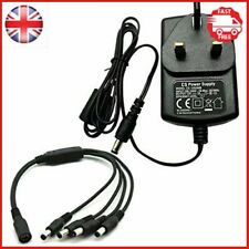 AC 100-240V to DC 12V 2A Power Supply Adapter with 4 Split Power Cable for CCTV