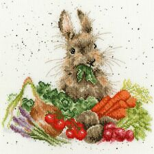 BOTHY THREADS GROW YOUR OWN BY HANNAH DALE RABBIT COUNTED CROSS STITCH KIT XHD52