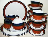 MIKASA FIRE SONG POTTERS ART BEN SEIBEL 20 PC DINNERWARE SET PLATES CUPS BOWLS +