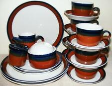 MIKASA FIRE SONG BEN SEIBEL 25 PC DINNERWARE SET PLATES CUPS CREAM SUGAR SHAKER