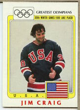 Jim Craig 1983 Topps Greatest Olympians Team USA Hockey JW955