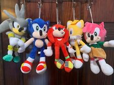 Sonic the hedgehog soft plush figure Doll toy : Shadow Tails Amy Knuckles Silver