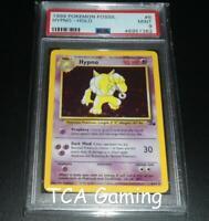 PSA 9 MINT Hypno 8/62 Fossil Set HOLO RARE Pokemon Card