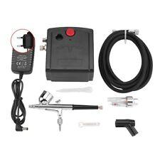 Dual Action Airbrush Kit Black/White Pump Spray Air Brush Gun Set Nail Tool HG