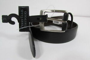 New Perry Ellis Portfolio Kids Dressy Classic Leather Fashion Belt Size Small
