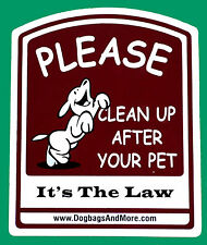 Red Please Clean Up After Your Pet Sign Dog Waste Thick Painted Aluminum #35.5
