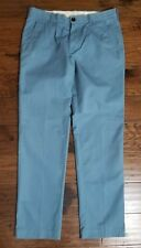 Men's LK Live A Great Life Blue Flat Front Pants Sz 32 Inseam 30 Euc