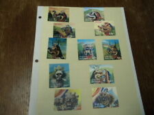 Bhutan 11 Piece Lot Stamps Mint 3D Dimensional Dragon Stamps