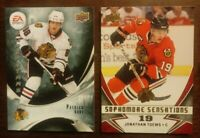 LOT OF 2 CHICAGO BLACKHAWKS INSERT CARDS - TOEWS KANE - COMBINED SHIPPING