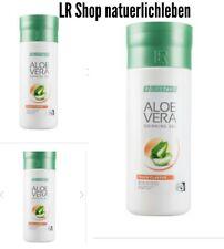 (26, 66€/1l)LR Aloe Vera Drinking Gel Peach 3× 1000 ml+gratis Duschgel