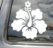 Hibiscus Flower - Florida Hawaii - Car Window Vinyl Die-Cut Decal Sticker 05002