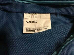 Ikea KARLSTAD Sofa back Cushion Cover PARTS Korndal Blue 1 part of 601.187.56