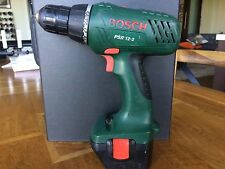 Bosch 12V cordless drill, battery and charger